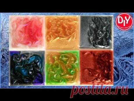10 цветов металлического пигмента с эпоксидной смолой.