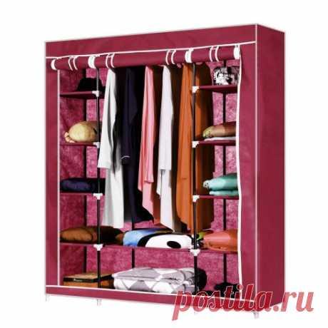 """Тканевый шкаф """"Трио"""", красный, 133 x 43 x 172 см — купить по цене от 2990 руб."""