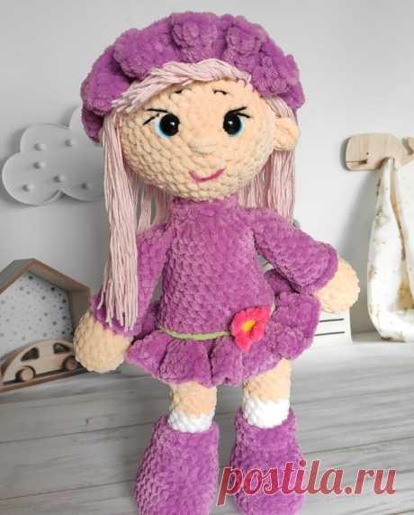 плюшевая кукла крючком мастер-класс