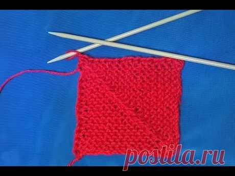 Мастер класс: пэчворк спицами, квадрат.pattern spokes.Muster Speichen