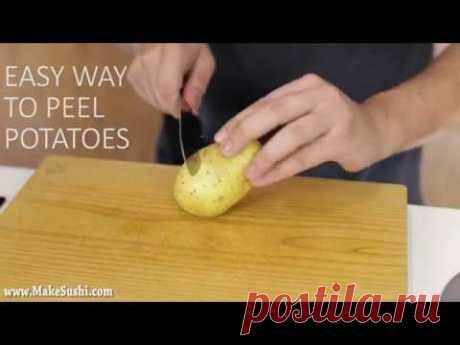 До сих пор вы неправильно чистили картофель. Предлагаем эффективный способ, о котором вы должны знать - У нас так