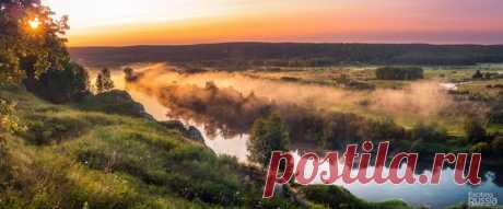 Рассвет на реке Сылва, Пермский край. Автор фото: Александр Паньков.