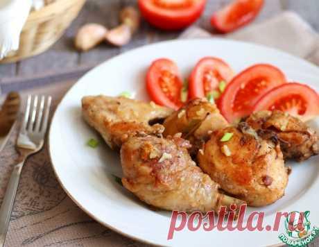 Жареная курица с чесночной заправкой – кулинарный рецепт