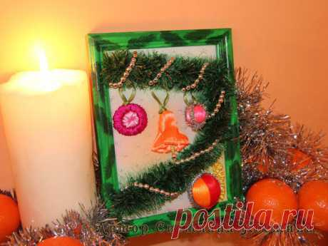 Вышивка «живой» новогодней картины