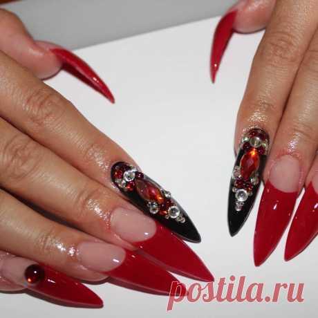 🔥🔥🔥 Instagram post by @shaiakasha | ❤👹💣💎📿 #girls #stilettovendetta ##lunaki #svaroski #sevilla #francesas #nails #nailsofinstagram #nail #nailsporno | 🔥 WAPINSTA