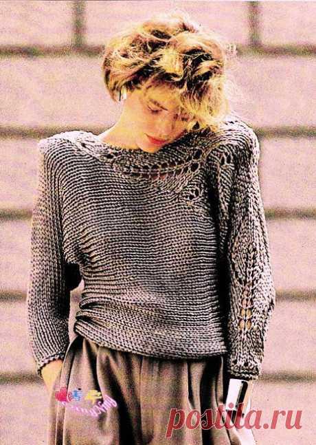 Как хорошо уметь вязать: Необычный пуловер.......