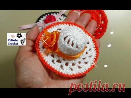 Souvenir capelina 15 años,nacimientos,crochet,ganchillo.