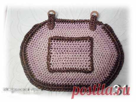 Вяжем сумку из атласной ленты - Ярмарка Мастеров - ручная работа, handmade