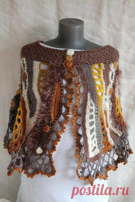 Chunky Crochet Poncho Freeform Crochet Poncho Crochet