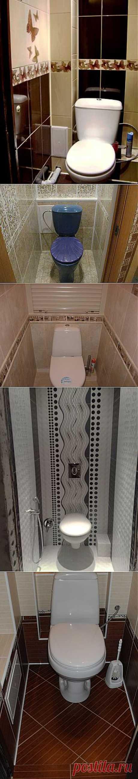 Интерьер маленького туалета (фото)..