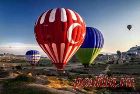 Каппадокия c высоты полета воздушного шара (18 фото) . Тут забавно !!!