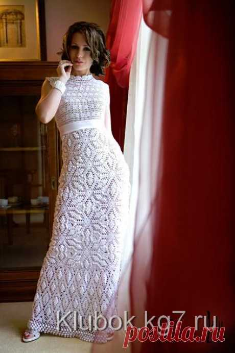 Вязаное свадебное платье | Клубок