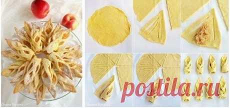 """Печенье """"Яблочные Башмачки"""".  Вам потребуется:  Тесто: 200 г сливочного масла, размягченного  120 г сахара 2 яйца  100 мл молока  2 ч.л. разрыхлителя щепотка соли  2 ч. л. ванильной эссенции  лимоннaя цедрa 500 г муки   Начинка: 1 кг яблок  5 ст.л. сахара или по вкусу корица по вкусу  2 ст.л. сливочного масла сок 1/2 лимона  30 мл воды   сахарная пудра для посыпки  Как готовить:  1. Взбейте мягкое масло с сахаром, добавьте яйца, ваниль, цедру и молоко. Просейте муку с соль..."""
