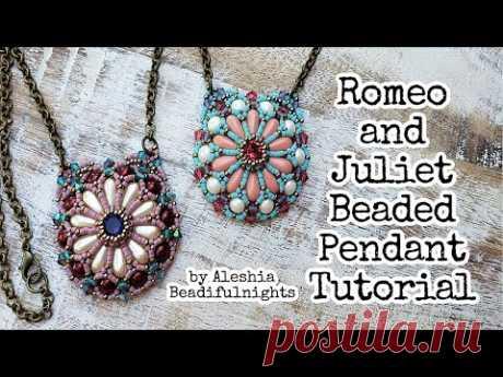 Romeo and Juliet Beaded Pendant Tutorial