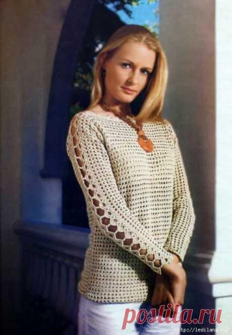 Crochetemoda Blog: Blusa de Crochet Manga Longa
