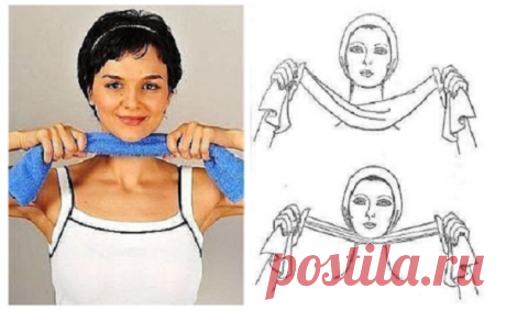 The result will not keep waiting! How to get rid of the drooped chin by means of a towel — Always in shape!