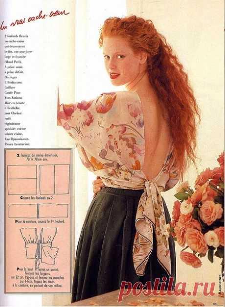 Простая эффектная блузка Модная одежда и дизайн интерьера своими руками