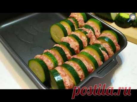Вкусные КАБАЧКИ С ФАРШЕМ (голубцы из кабачков) в духовке. Рецепт! Эффектная подача, красивое блюдо!