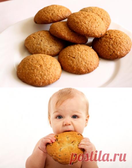 Печенье для детей: простые и вкусные рецепты с фото (творожное, овсяное, банановое)