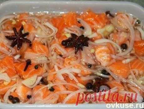 El salmón marinado orientalmente - las recetas Simples Овкусе.ру