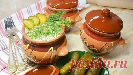 Potatoes with chicken in an oven in clay pots   Roast in pots - Simple recipes of Овкусе.ру