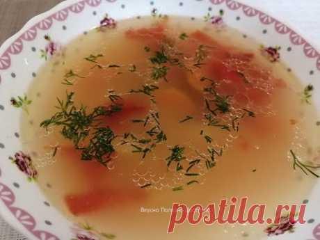Рисовый суп на курином бульоне. Вкусно и быстро готовить. Простой рецепт