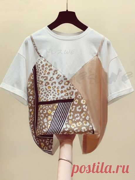 Крутые переделки футболок (с платками) Модная одежда и дизайн интерьера своими руками
