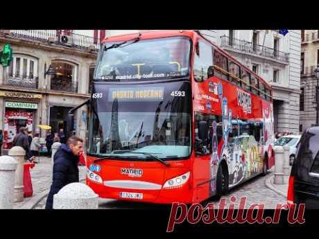 Route 2 | Madrid City Hop-on Hop-off Bus Tour | City road sounds - YouTube