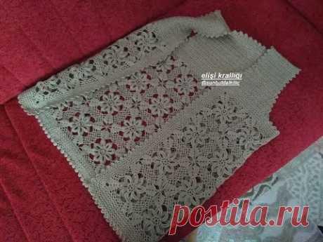 TIĞ İŞİ ÇİÇEKLİ  GELİN YELEĞİ YAPILIŞI.(1.KISIM) / Crochet Floral Bridal Vest construction. (Part 1)