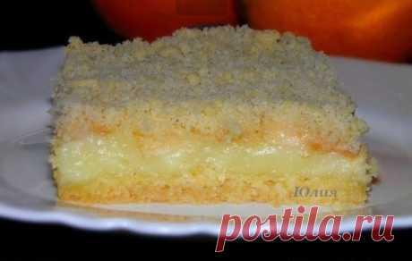 Пирог с заварным кремом и яблоками.