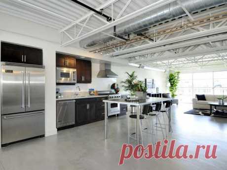 Кухня в стиле лофт: брутально душевный дизайн домашнего интерьера