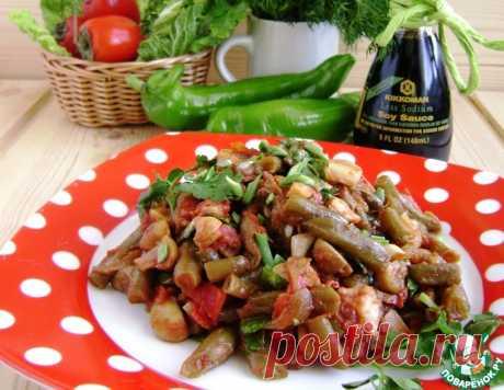 Салат-гарнир из фасоли с грибами – кулинарный рецепт