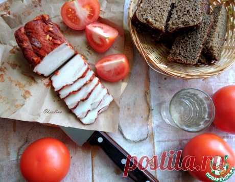 Сало в луковой шелухе – кулинарный рецепт
