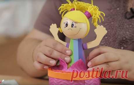 Кукла-шкатулка из фоамирана своими руками