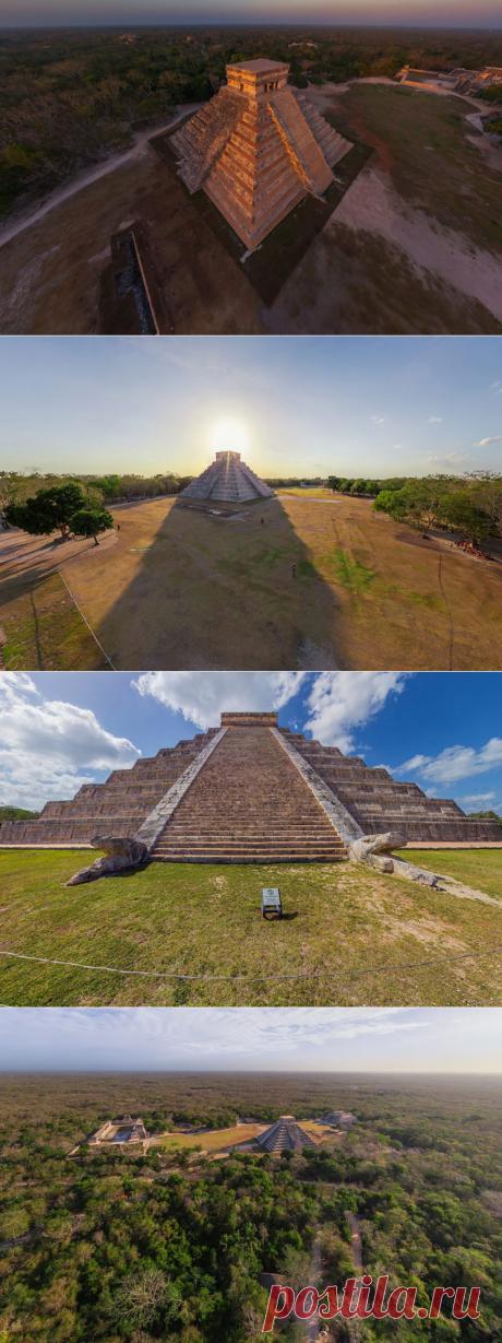 Обзор на 360º | Пирамиды Майя, Чичен-Ица, Мексика