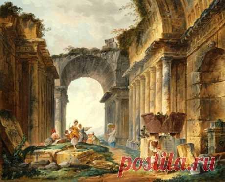 Прачки среди древних руин — сбор пазла — Пазлы онлайн