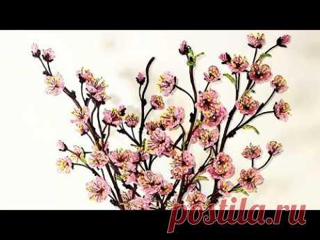 СОВМЕСТНОЕ ПЛЕТЕНИЕ Сакуры из бисера ГАЛЛЕРЕЯ РАБОТ ОТ Koshka2015 - цветы из бисера,  бисероплетение