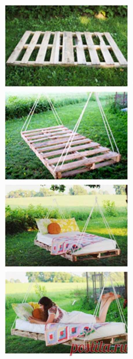 DIY PALLET SWING BED | Golbis