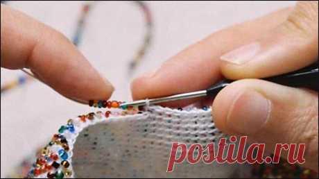 Вязание с бисером, простой мастер-класс — Рукоделие
