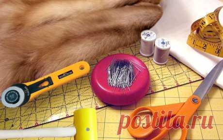 Технология работы с мехом | Как шить и кроить шкурки натурального меха