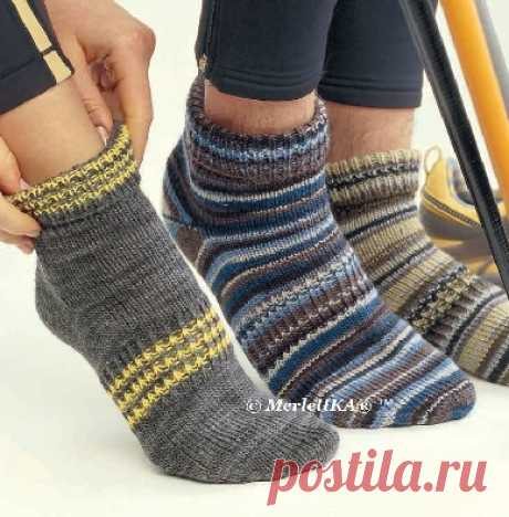 Вязание спицами - Мужские и женские носки