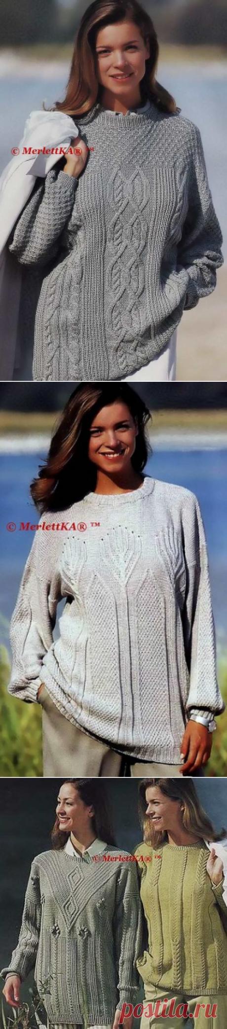 Pullovers oversayz or Lempsheyding ✿ knitting by spokes