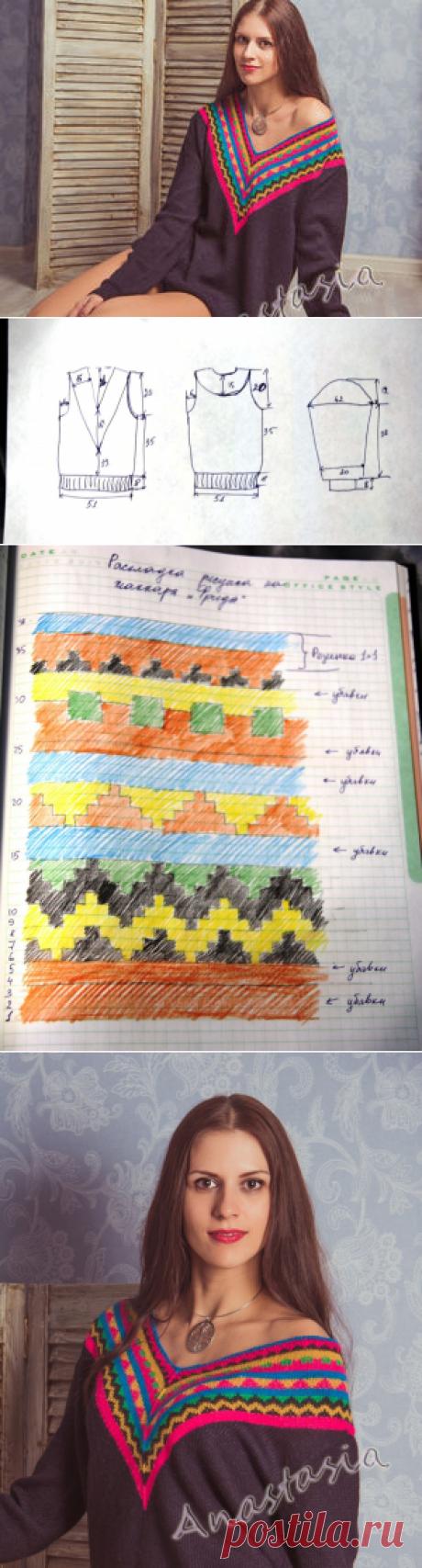 Вяжем свитер «Фрида»: инструкция с выкройкой - Ярмарка Мастеров - ручная работа, handmade