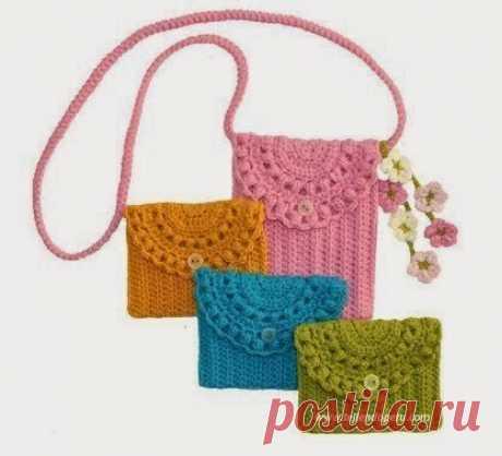 Patrones para hacer un monedero tejido a crochet