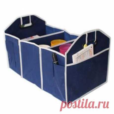 Складной автомобильный органайзер в багажник | shopperali.ru