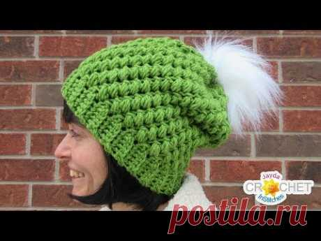 Chunky Bean Stitch Winter Hat - Crochet Pattern & Tutorial - Adults & Children Sizes