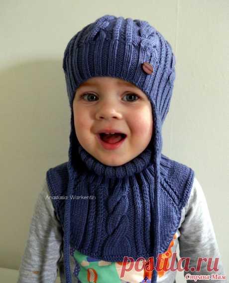 """Шапка и манишка """"Изморозь"""" + описание Здравствуйте, дорогие страномамочки и любительницы вязания!  Сегодня пришла поделиться с вами новым тепленьким комплектом."""