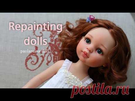 파올라레이나 인형 리페인팅 메이크업  Repainting dolls / doll face up / паоларейна