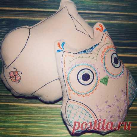 Подушка -Сова #думочки #сплюшки #совушки (эко-материал, гипоаллергенный наполнитель), размер 22*18 см