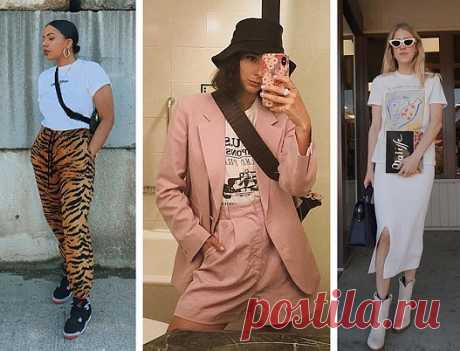 6 простых и стильных способов носить футболку / Женщина и Город